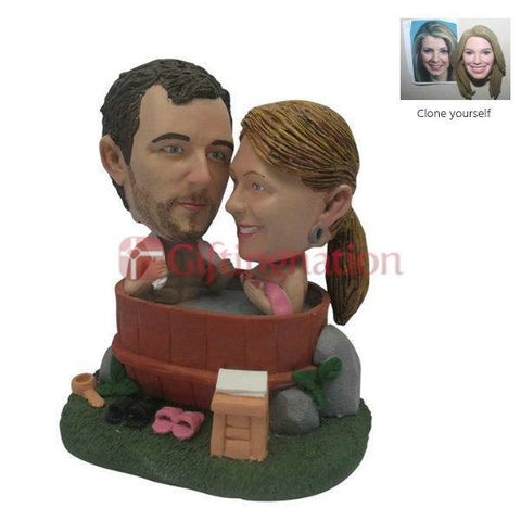 Couple Custom Bobblehead Bath Tub Personalised Gift - Giftingnation