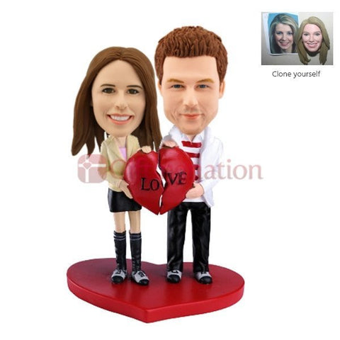 Custom Bobblehead Couple Gift of Love - Giftingnation