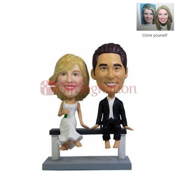 Custom Bobblehead Couple Sitting Relaxing - Giftingnation