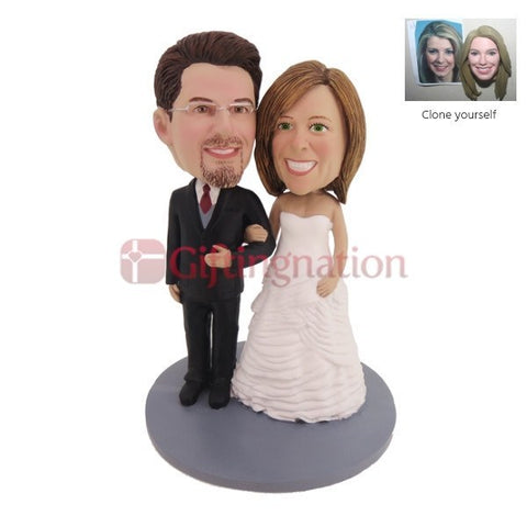 Custom Bobblehead Couple Standing Together - Giftingnation