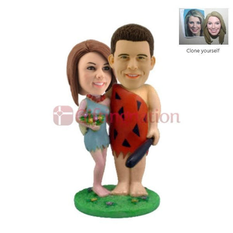 Custom Bobblehead Flinstones Couple - Giftingnation