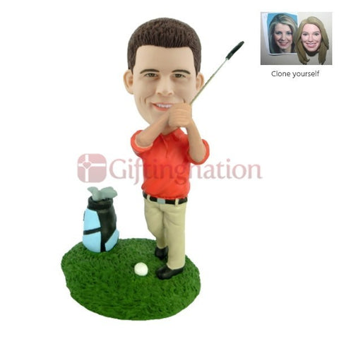Custom Bobblehead Golf Playing Man - Giftingnation