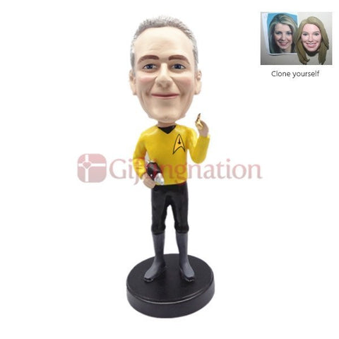 Custom Bobblehead Man in Startrek Outfit - Giftingnation