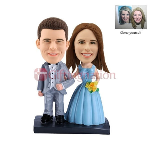 Custom Bobblehead Newly Wed Couple - Giftingnation