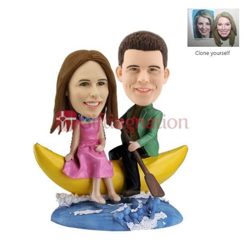 Custom Bobblehead of Couple on a Moon - Giftingnation