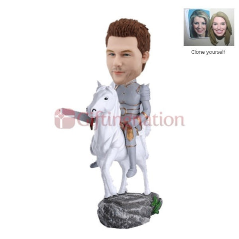 Custom Bobblehead of Man as Knight - Giftingnation