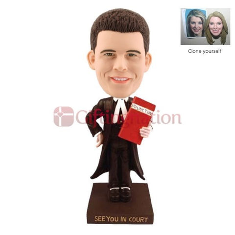Custom Bobblehead of man as Lawyer - Giftingnation