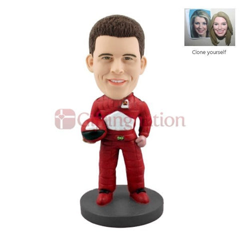 Custom Bobblehead of Man F1 Racing Fan - Giftingnation
