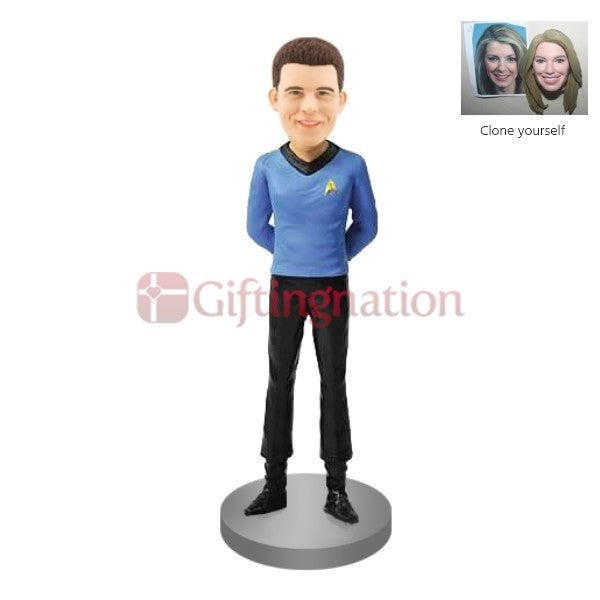 Custom Bobblehead of Man in Startrek Spock Outfit - Giftingnation
