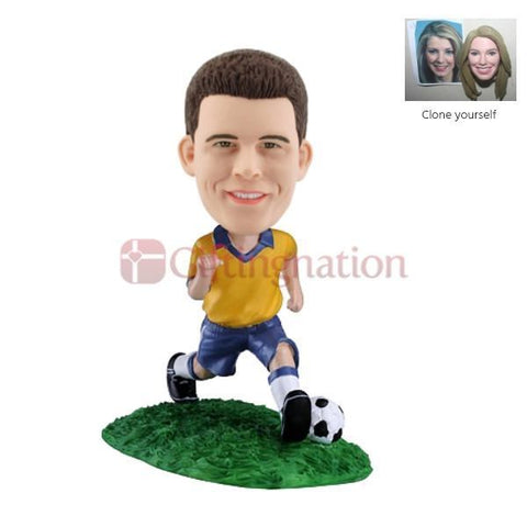 Custom Bobblehead of Man Playing Football - Giftingnation