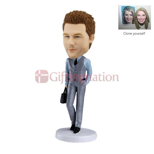 Custom Bobblehead of Sophisticated Man - Giftingnation