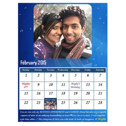 Personalised Table Calendar - Giftingnation - 2