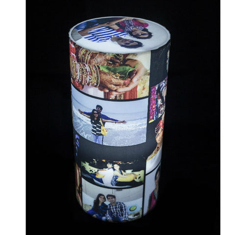Personalised Cylinder Shape Photo Lamp - Giftingnation - 1