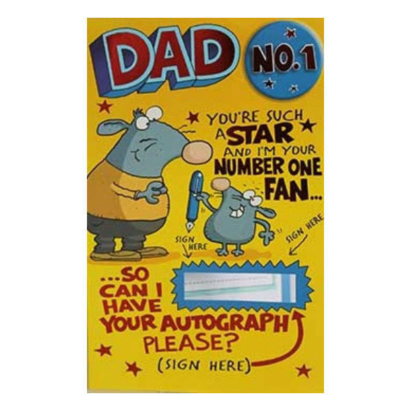 Dad No 1 Archies Greeting Card - Giftingnation