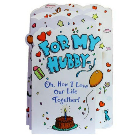 For My Hubby On His Birthday Hallmark Greeting Card - Giftingnation