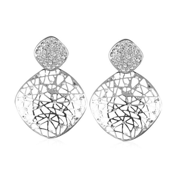 Silver Charisma Earrings - Giftingnation - 1