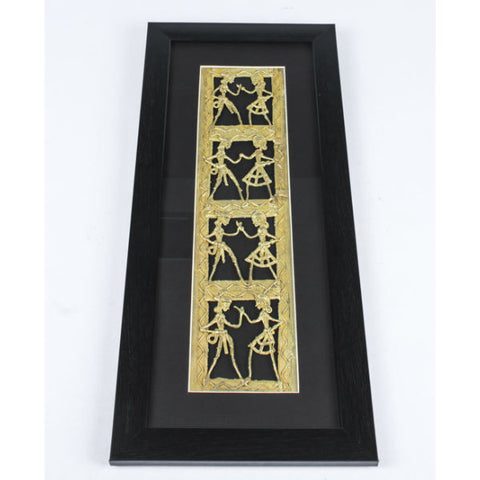 Dhokra Art Vertical Wall Hanging - Giftingnation - 1