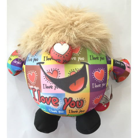 Huggable Multicolored Soft Toy-I Love You - Giftingnation