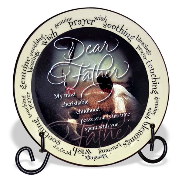 Dear Father Decorative Tile - Giftingnation