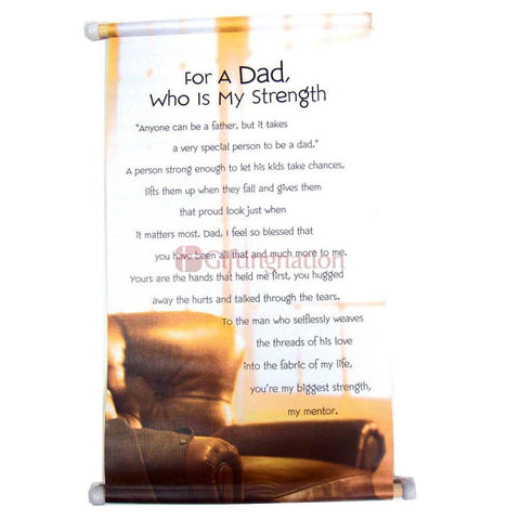 For A Dad Who Is My Strength Scroll - Giftingnation