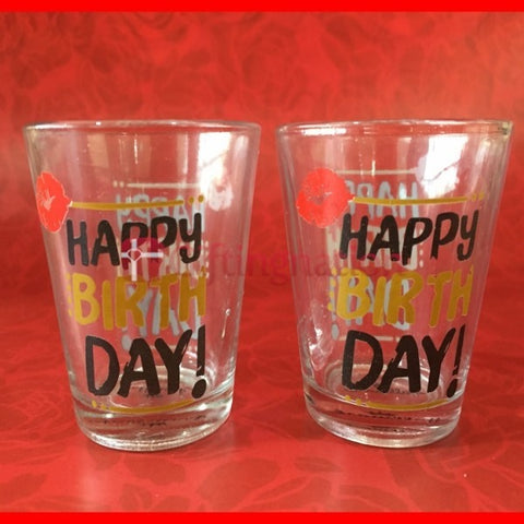 Happy Birthday Shot Glasses Set-2 - Giftingnation - 1