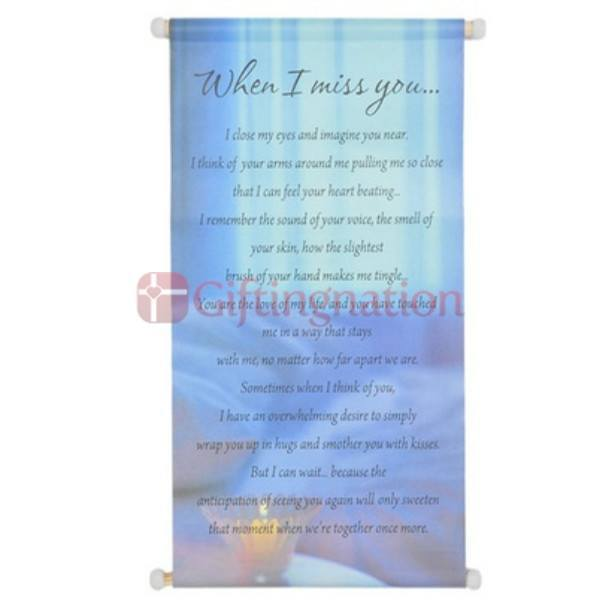 I Miss You Hallmark Scroll - Giftingnation
