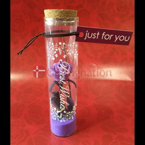Just for You Love Message in a Bottle Purple - Giftingnation - 1