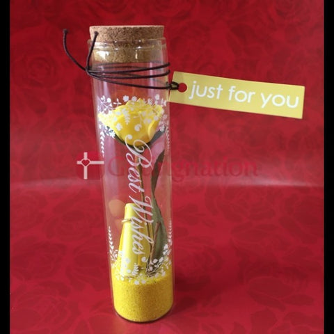 Just for You Love Message in a Bottle Yellow - Giftingnation - 1
