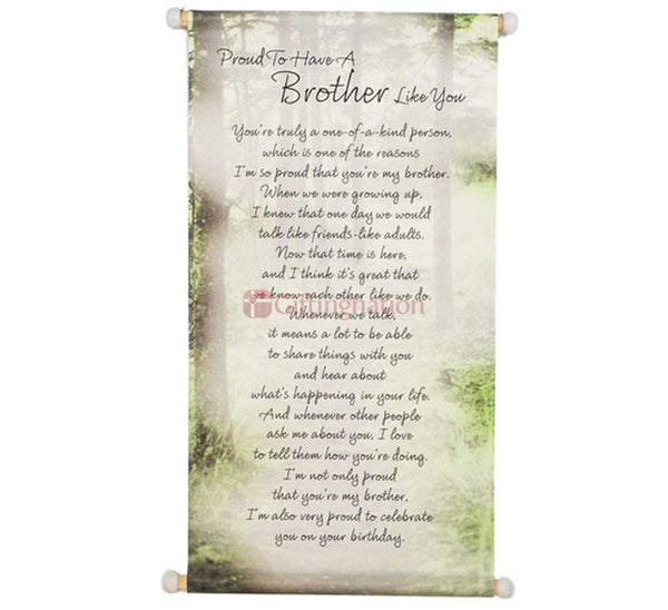 Proud To Have A Brother Like You Scroll - Giftingnation