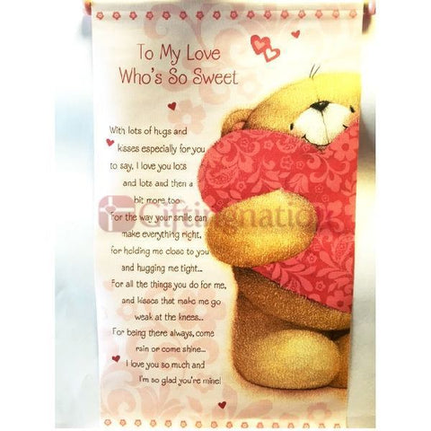 To My Love Who's So Sweet Scroll - Giftingnation