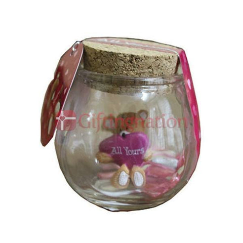 Valentine Gift All Yours Teddy in a Bottle - Giftingnation