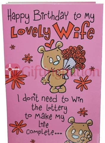 Archies Birthday for Lovely Wife Greeting Card - Giftingnation