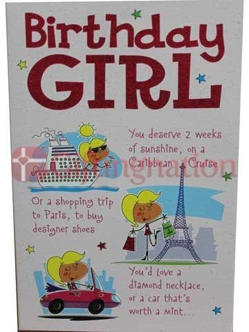 Archies Birthday Girl Greeting Card - Giftingnation