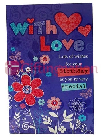 Archies Birthday Special With Love Greeting Card - Giftingnation