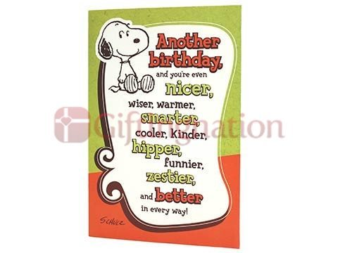 Archies For Boy Snoopy Theme Birthday Greeting Card - Giftingnation