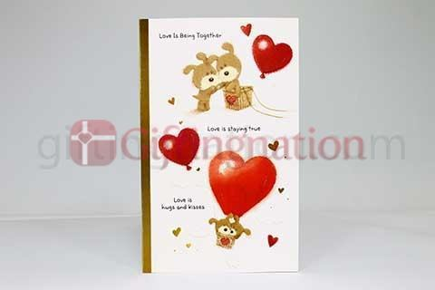 Archies Love Is Being Together Greeting Card - Giftingnation
