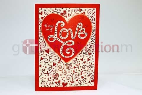 Archies To My Only Love Greeting Card - Giftingnation