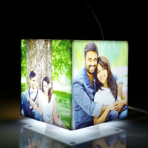Personalised Cube Mini Photo Lamp - Giftingnation - 2
