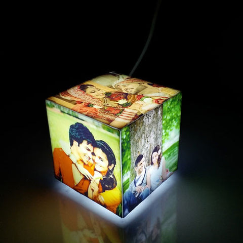 Personalised Cube Mini Photo Lamp - Giftingnation - 1
