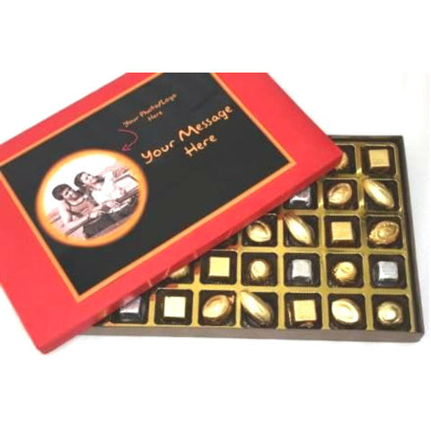 Customized Assorted Chocolate Signature Deluxe Red 40 Assorted Chocolates