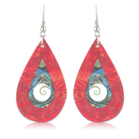 Modern Round Shell Earrings - Giftingnation - 1
