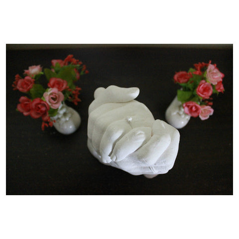3D Casting of Couple Hands-Pearl White - Giftingnation