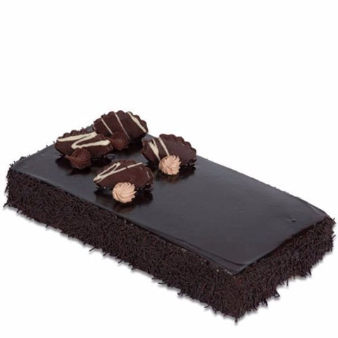 Square Dutch Truffle Chocolate Cake