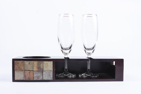 Champagne Tray with Glasses - Giftingnation - 1