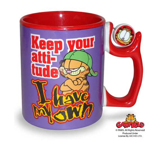 Garfield Coffee Mug Keep Your Attitude I Have My Own - Giftingnation