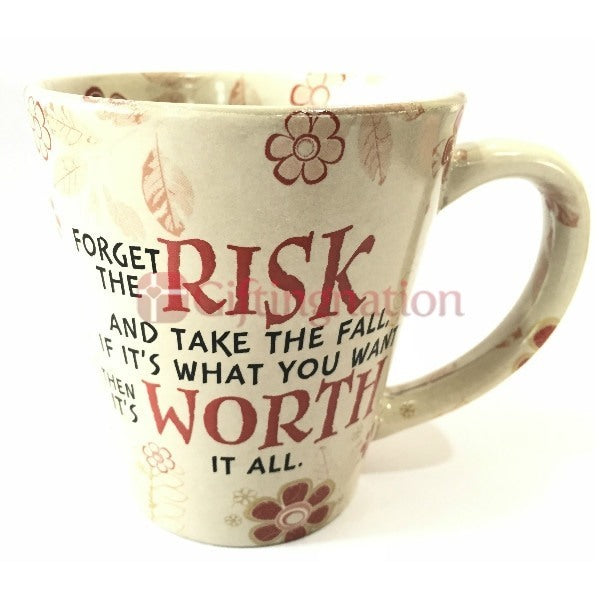 Risk and Worth Inspirational Mug - Giftingnation - 1
