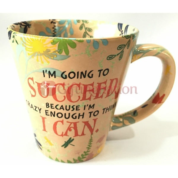 Succeed I Can Inspirational Coffee Mug - Giftingnation - 1