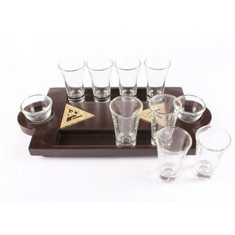 Dhokra Art Shot Tray Triangle Jaali - Giftingnation - 1