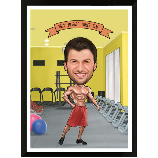 Caricature Gift for Mr Fit - Giftingnation