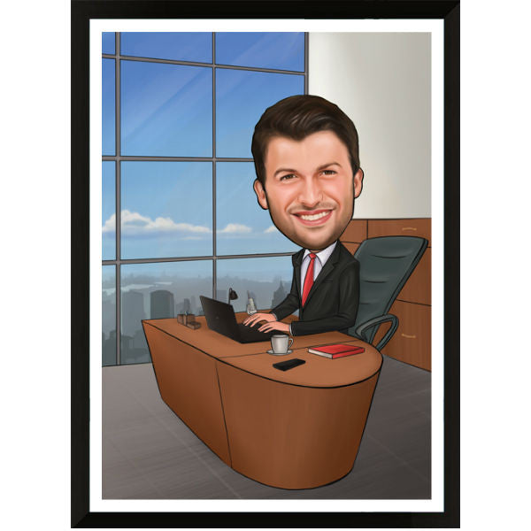 Caricature Gift for Boss Male - Giftingnation